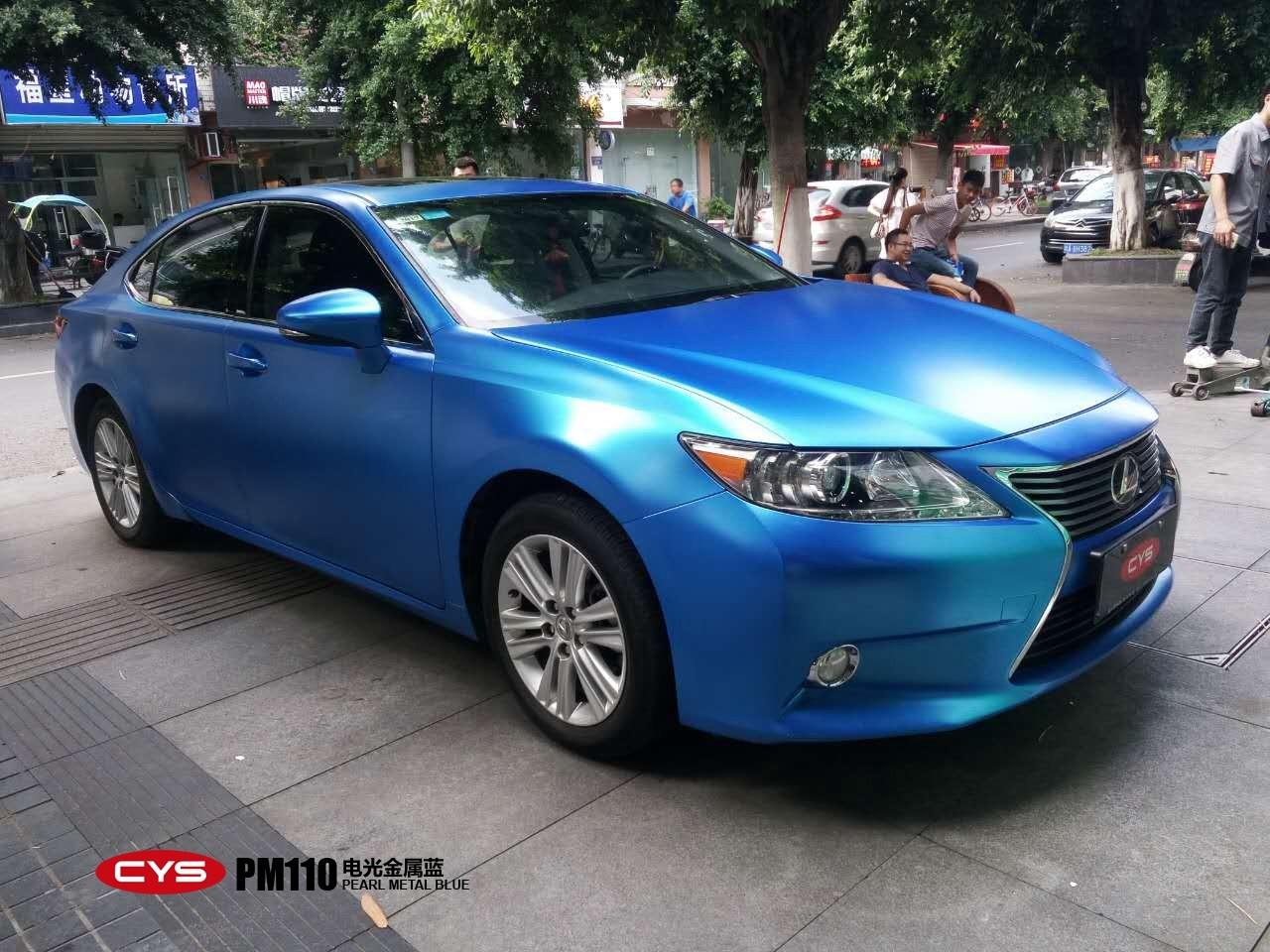 完美姿态 雷克萨斯ES250电光金属蓝车身改色贴膜
